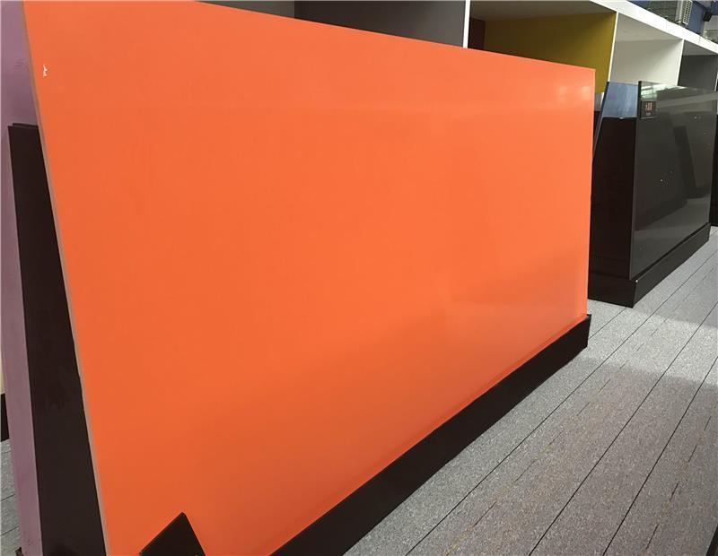 Pure Series Color Artificial Orange Quartz Stone Slab For Kitchen  Countertops