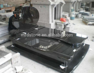 Cheap custom black poland granite monument