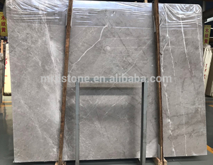 Cheap Chinese Polished Nature Castle Light Grey Marble Slab