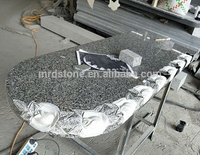 Best Prices Romania Flower Granite Tombstone Design