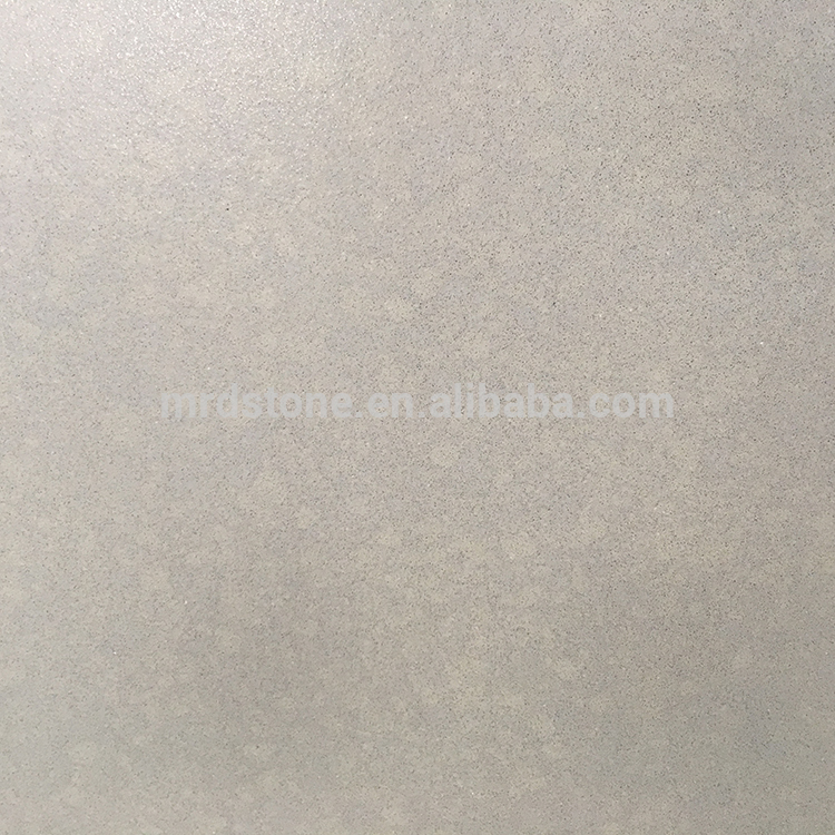 Factory Price Artificial Stone Small Particles Light Grey Quartz Slab