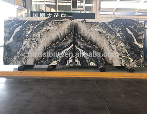 High Quality Polished Natural Multicolor Luxury Black Marble Price Per Square Meter