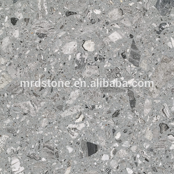 Top quality china grey flooring tile artificial marble for kitchen