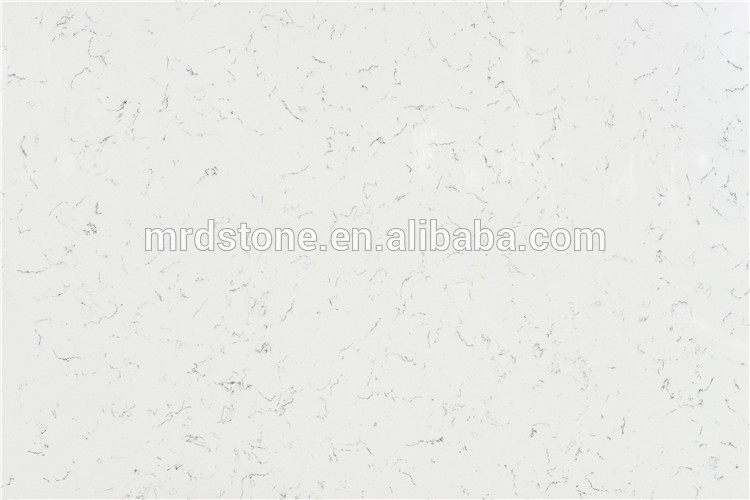 Cheap material kitchen engineered artificial medium flower white quartz stone