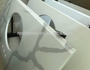 Factory Direct Price Countertop A Grades Carrara White Quartz Vanity Tops
