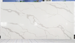 Customized size calacatta white B quartz slabs