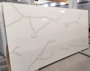 Factory Price ISO9001 Approved Artificial White Calacatta Quartz Stone Slab