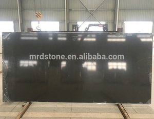 Factory Direct ISO9001 Approved Pure Series Artificial Black Quartz Slab