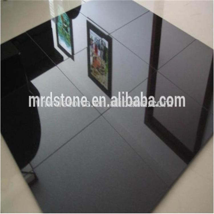 Living room decoration cheap China black floor tiles 30x30 from china