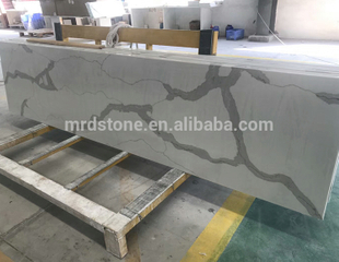 Popular Design Artificial White Calacatta Quartz Stone