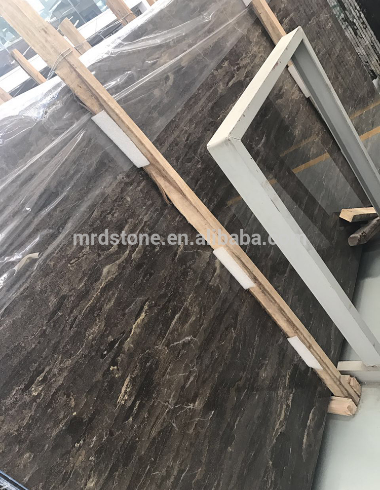 Chinese Price Polished Stone Gold Black Marble Slab Price