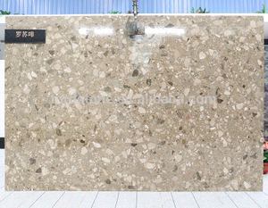 Factory Supplier China Building Material Crystal Light Brown Cheap Composite Marble