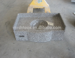 Factory Direct Sale Prefab Bathroom Polished G664 Granite Countertops With Built In Sinks