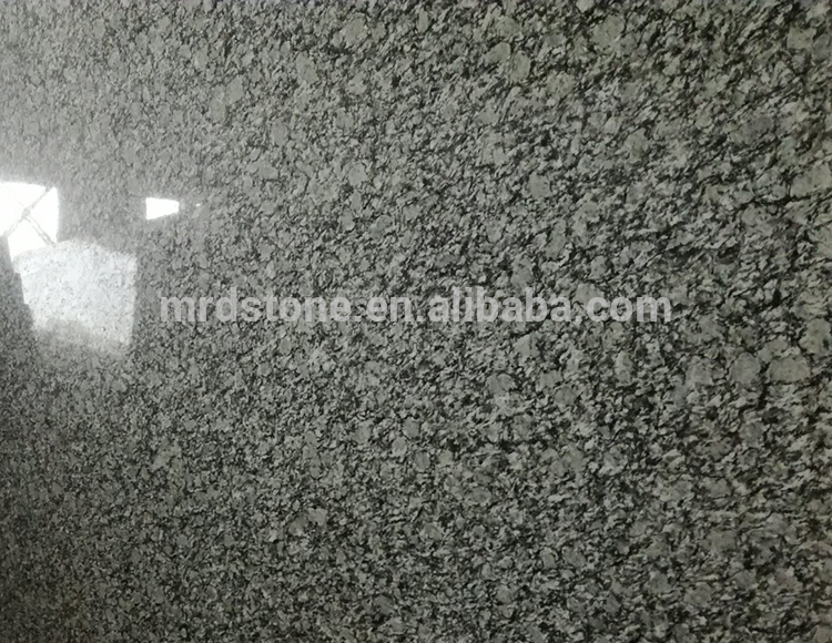 Cheap Polished Grey Sea Wave Spray White Granite Slab