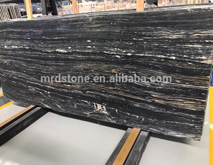 Chinese Polished Natural Stone Price Per Square Meter Black Wood Marble With White Veins