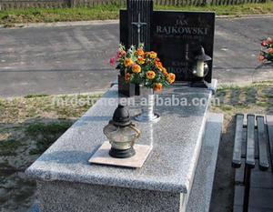 High Quality Poland Style Mountain Pink Granite Modern Tombstone Designs