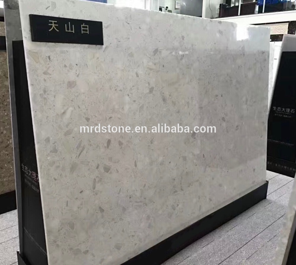 Factory price cut-to-size light grey artificial stone price for kitchen