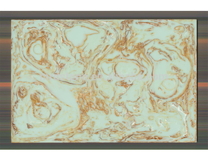 SGS Approved 100% Export Standard Golden Grain Green Artificial Onyx Slab