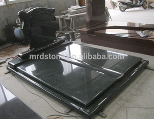 Low Price Tomb Design China Black Granite Monument For Hungary