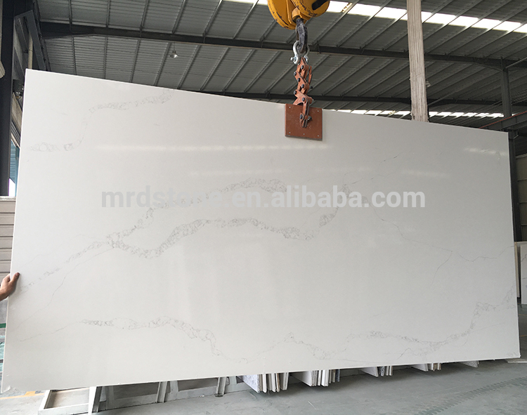2018 High Quality Polished Artificial White Quartz Stone Slabs