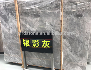 Factory Price Polished Silver Grey Marble Slab