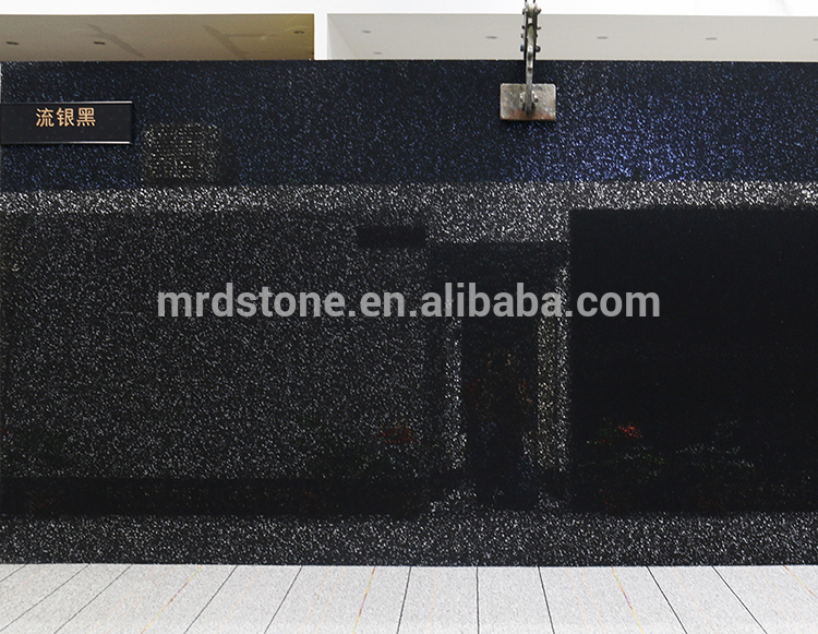 China Manufacturer Custom-Made Big Particles Artificial Black Color Quartz Stone