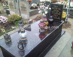 Chinese Tombstone Headstone Granite Galaxy Black Poland Monument