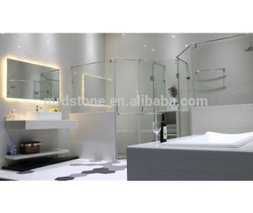 Highly polished Straight white quartz countertop,bathroom quartz slabs