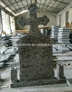 Cheap Romania Style Blank G664 Granite Cross Tombstone
