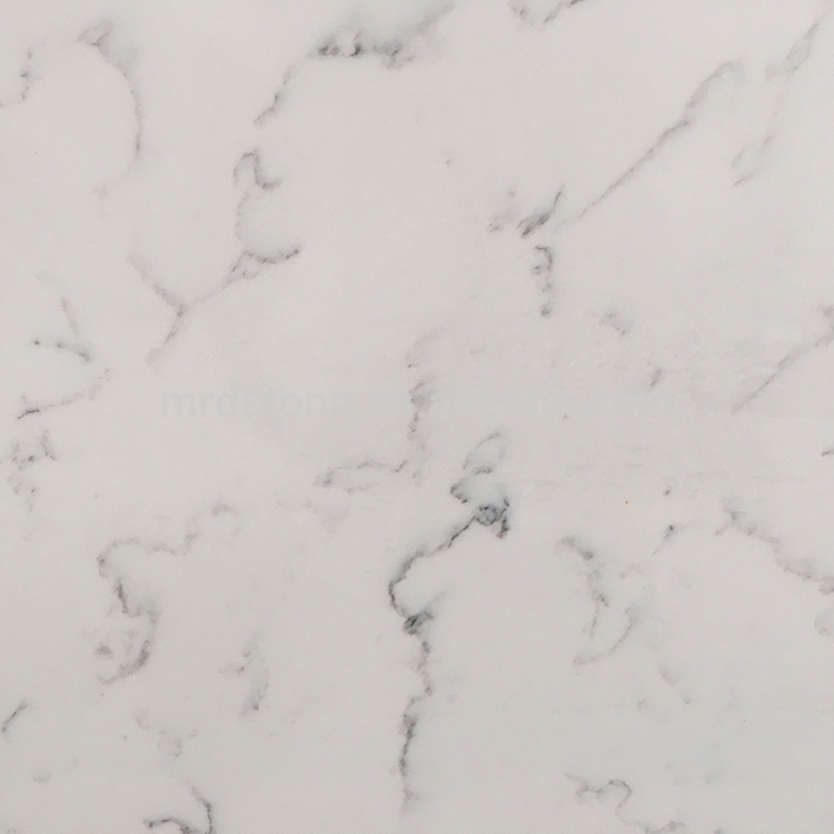 Own Factory SGS Certified New Design Black Veins Cream White Quartz Slab