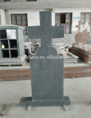 Hot Selling Romania Style Dark Grey G654 Granite Cross Headstones Price