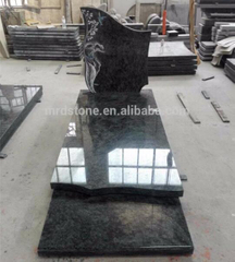 France Olive Green polished granite headstone