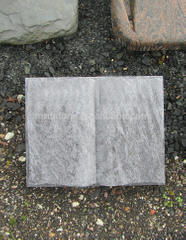 Memorial Uk Style Light Grey Granite Stone Open Book Headstones