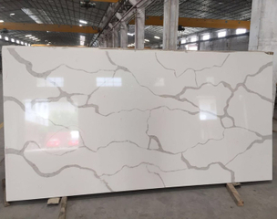 Wholesale Artificial Stone Largest Size White Calacatta Quartz Slab Prices