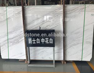 Factory Direct Polished Grey Veins White Marble Slab Price