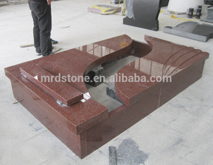 China Good Price Hungary Red Granite Headstones Monuments