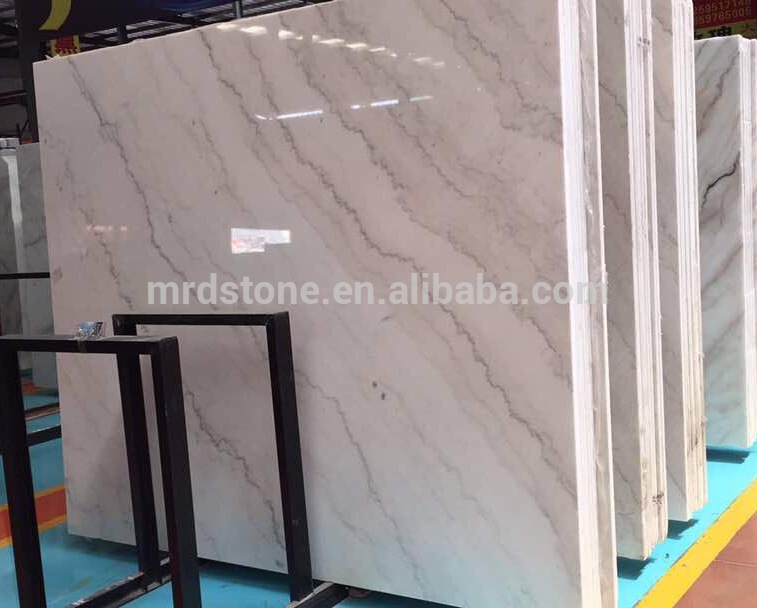 Wholesale Natural Stones Slab Guangxi White Marble With Grey Veins