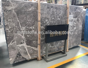 High Quality China Natural Silver Grey Marble Slab Price