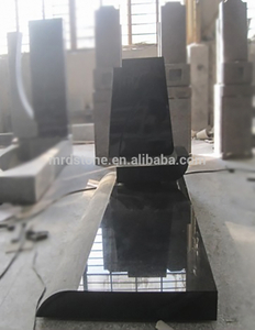 Good Price Albania Style Headstones Shanxi Black Granite Monument