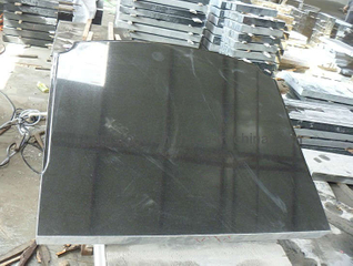All Polished Russian Style Absolute Black Granite Monument