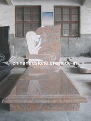 Indian Multicolor Red Granite Headstones for Graves