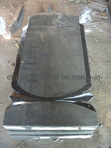 Shanxi Black Granite Upright Tombstone and Monument with Russia Style