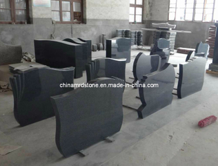 G654 Black Granite Monument for Hungary Market