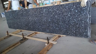 Blue Pearl Granite Cut to Size Slab for Southeast Asia