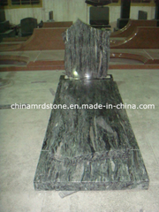 Custom Design Western Style Ocean Green Granite Monument