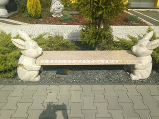 G682 Rusty Yellow Granite Bench for Outdoor Garden Decoration