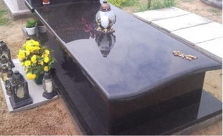 European Style Polished Granite Monument Tombstone of Black Pearl