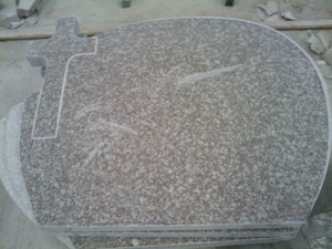 All Polished G664 Granite Cross Headstone for Poland Market