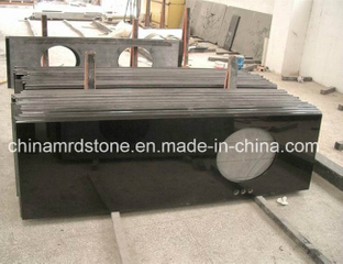 Prefab Shanxi Black Granite Kitchen Bench Top / Counter Top