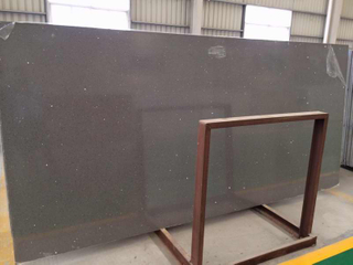 Good Dark Grey Quartz Stone Big Slab with Fast Delivery Time